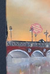 Pont de Pierre Bordeaux Garonne Peinture huile sur toile Anouk Sarr
