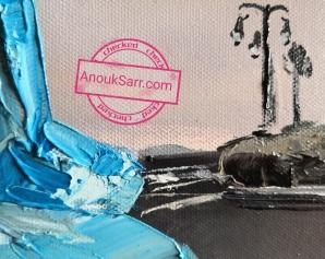 Lion Bleu Veilhan Bordeaux Stalingrad huile sur toile Anouk Sarr 2018