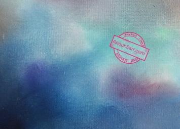 """""""Aréna, Floirac, rive droite de Bordeaux"""", peinture huile sur toile, 46x55cm, Anouk Sarr, 2018"""