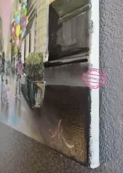 Rue Sainte Catherine, Bordeaux, huile sur toile, 46x55cm, Anouk Sarr 2018