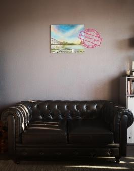 Jardin Botanique de Bordeaux, peinture huile sur toile, 46x55cm, Anouk Sarr 2018