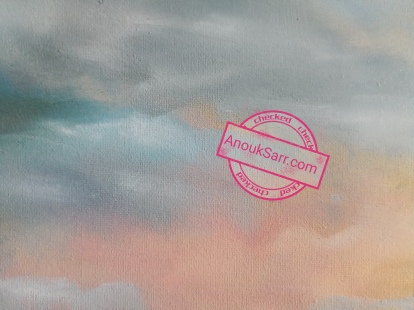"""""""Château Smith Haut Lafitte, Les Sources de Caudalie"""", peinture huile sur toile, 60x80cm, Anouk Sarr 2019"""