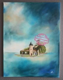 Château Latour Martillac peinture huile sur toile 60x80cm Anouk Sarr 2019