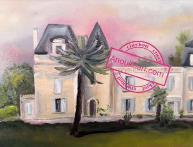 « Château Bardins, Cadaujac », huile sur toile, 60x80cm, 2019, Anouk Sarr