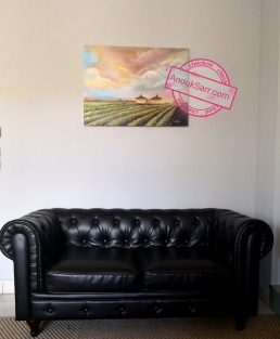 « Château Baulos-Charme, Cadaujac », huile sur toile, 60x80cm, 2019, Anouk Sarr