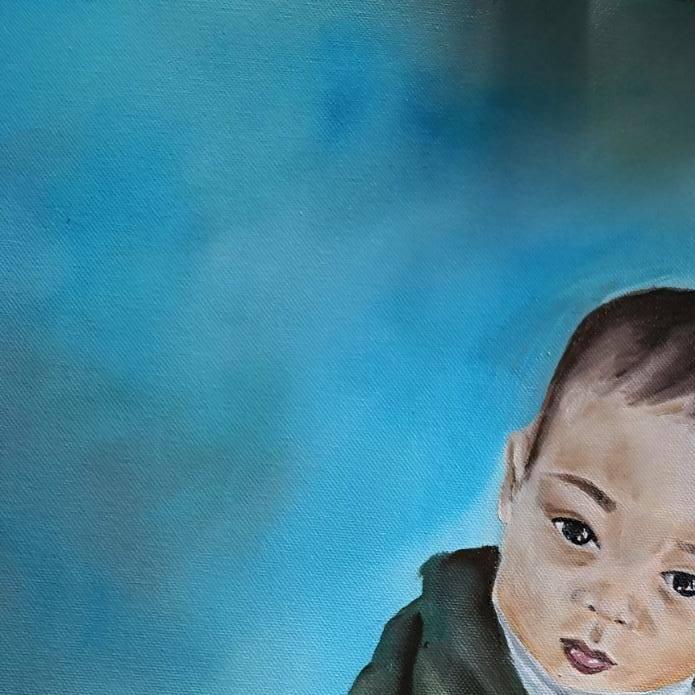commande portrait peinture huile anouk sarr bordeaux cadaujac