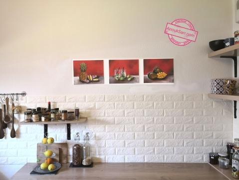 Nature morte anana huile sur toile anouk sarr 22x30cm 2019